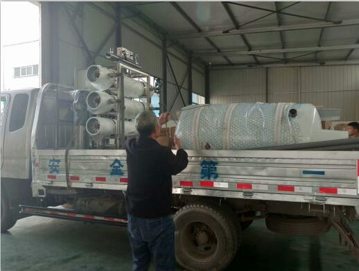 反渗透水处理设备-3吨反渗透设备发货现场