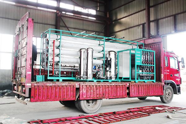 河南焦作15T/H净水设备发货现场