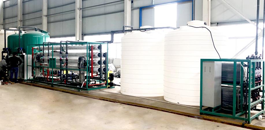 化工行业用EDI超纯水设备安装现场