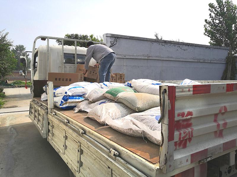 软化水设备发货现场